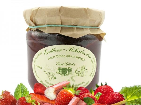 Erdbeer-Rhabarber Fruchtaufstrich